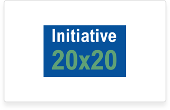 This is the 20x20 initiative logo.